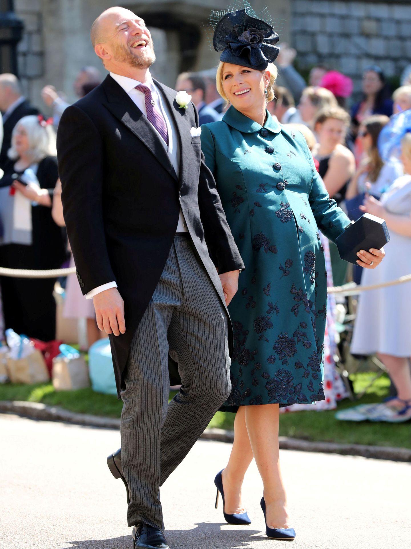 Zara y su marido, en la boda de Harry y Meghan. (Reuters)