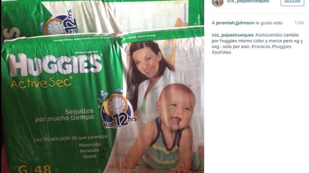 Foto: Una petición de intercambio de pañales por motivos de talla (Instagram)