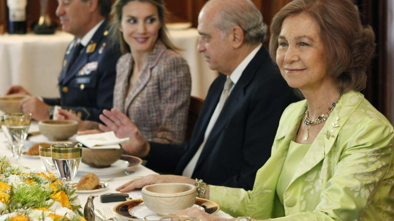 Un almuerzo en Zarzuela en 2014. (EFE)