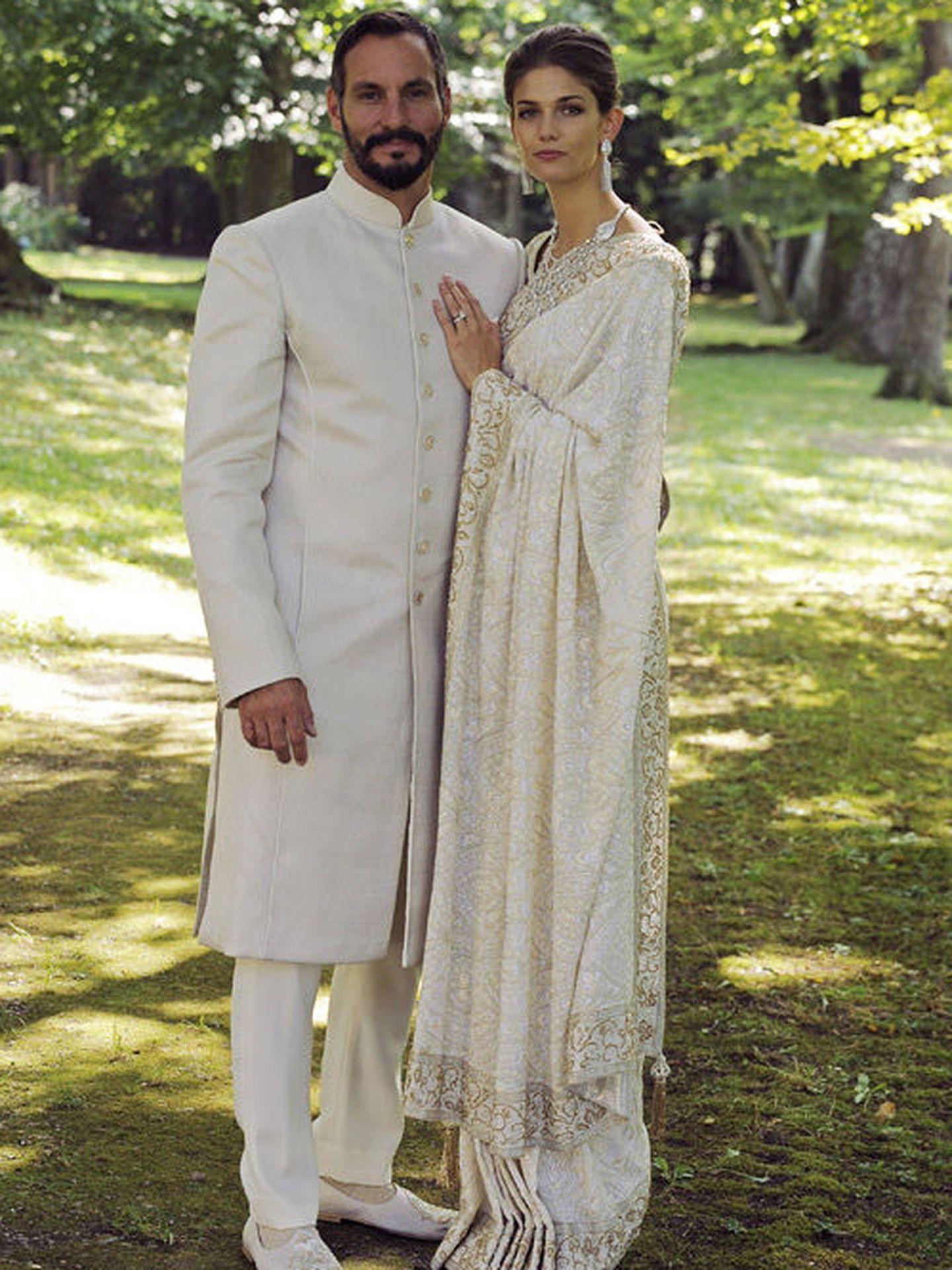 Rahim Aga Khan y Kendra Spears, en una imagen de su boda facilitada por la familia.
