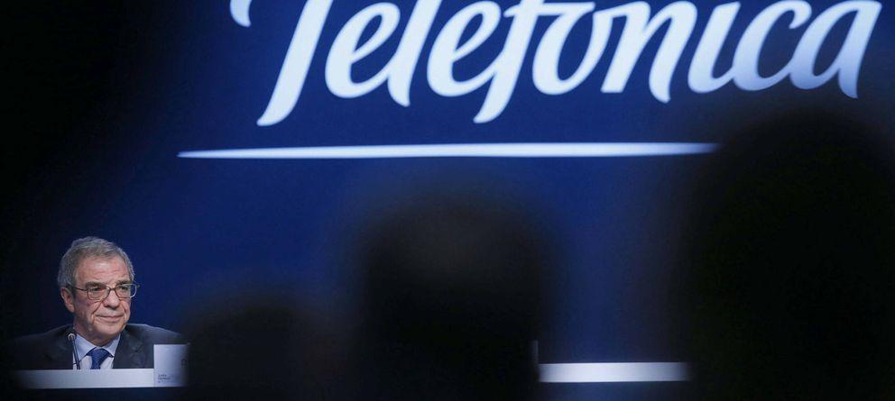 Foto: El presidente de Telefónica , César Alierta (Efe)