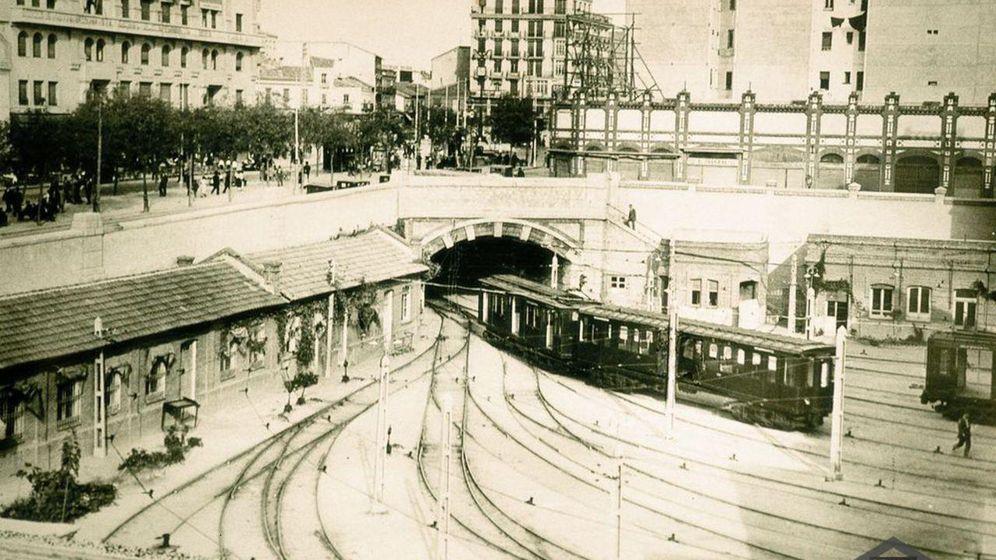Foto: Las cocheras de Cuatro Caminos, en 1920.