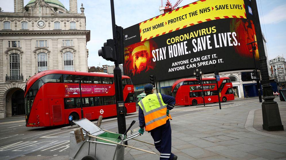 Foto: Campaña de salud del Gobierno en Piccadilly Circus. (Reuters)