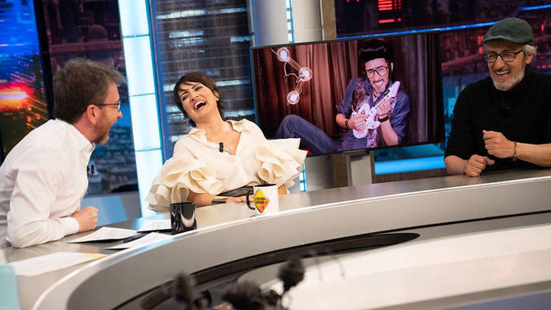 Silvia Abril y David Fernández, en 'El hormiguero'. (Atresmedia)