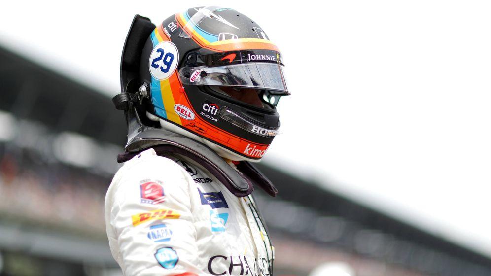 Foto: Fernando Alonso en las pasadas 500 Millas de Indianápolis. (AFP)