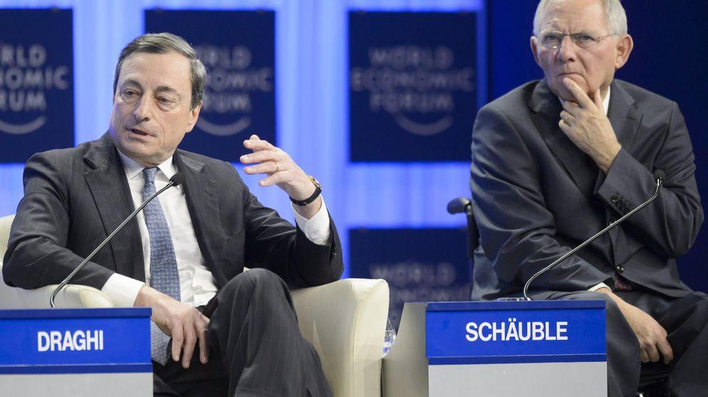 Foto: El presidente del BCE Mario Draghi, y el ministro de Finanzas alemán, Wolfgang Schaeuble. (EFE)