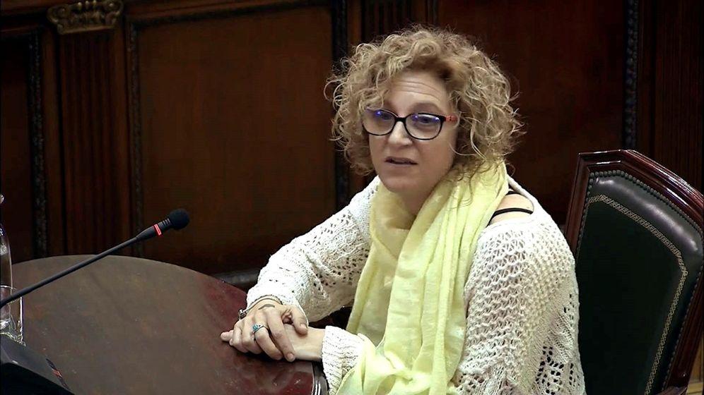 Foto: Imagen tomada de la señal institucional del Tribunal Supremo de la testigo Pilar Calderón durante la 38ª jornada del juicio. (EFE)