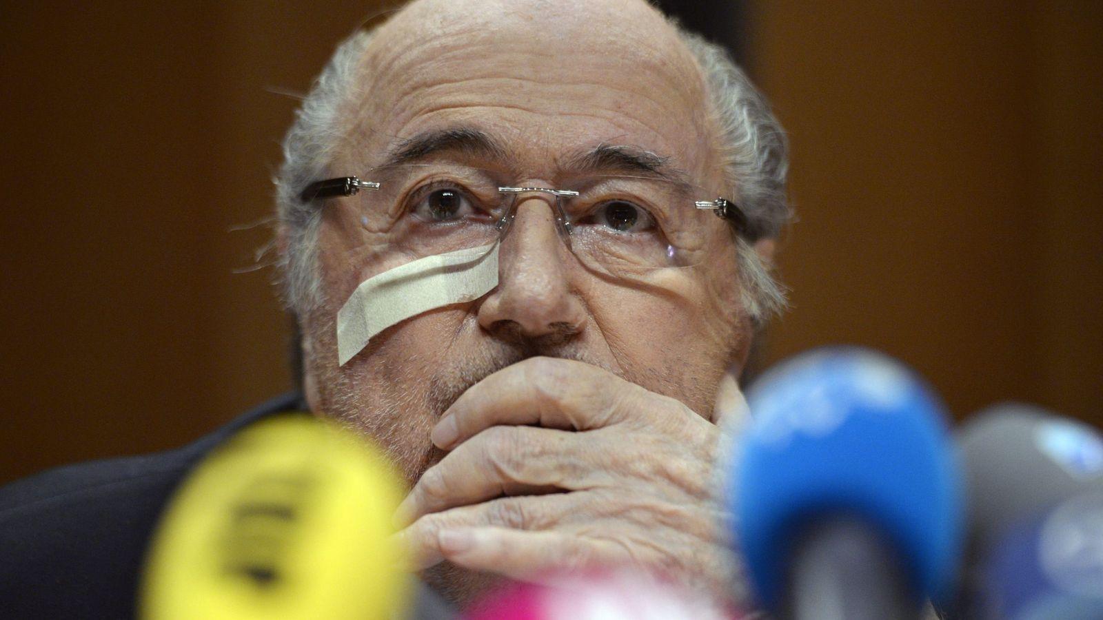 Foto: Blatter confirma que España cambió su voto para que Qatar fuera sede del Mundial 2022 (Efe).
