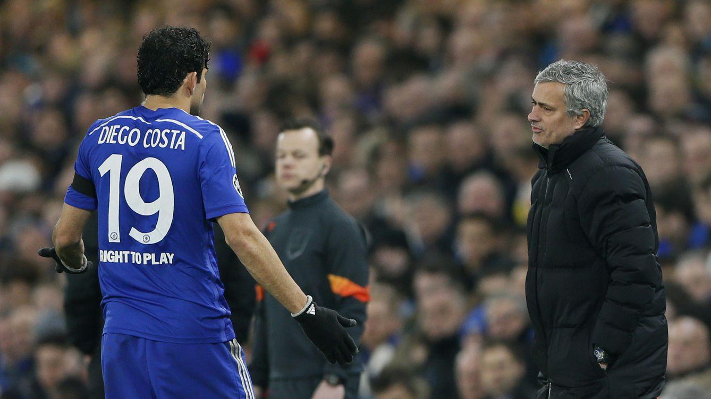 Foto: Mourinho con Diego Costa durante la eliminatoria (Reuters).
