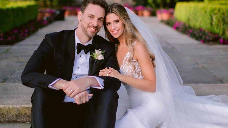 Pau Gasol y Catherine McDonnell, en su boda. (Instagram)