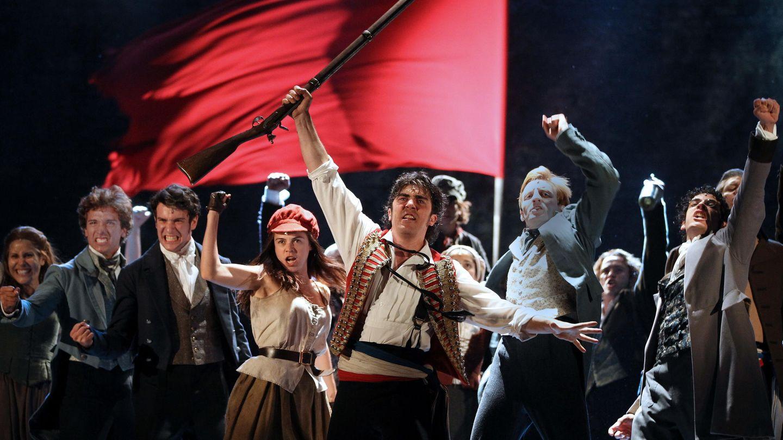 Imagen del musical 'Los miserables' en el Liceu de Barcelona (EFE)