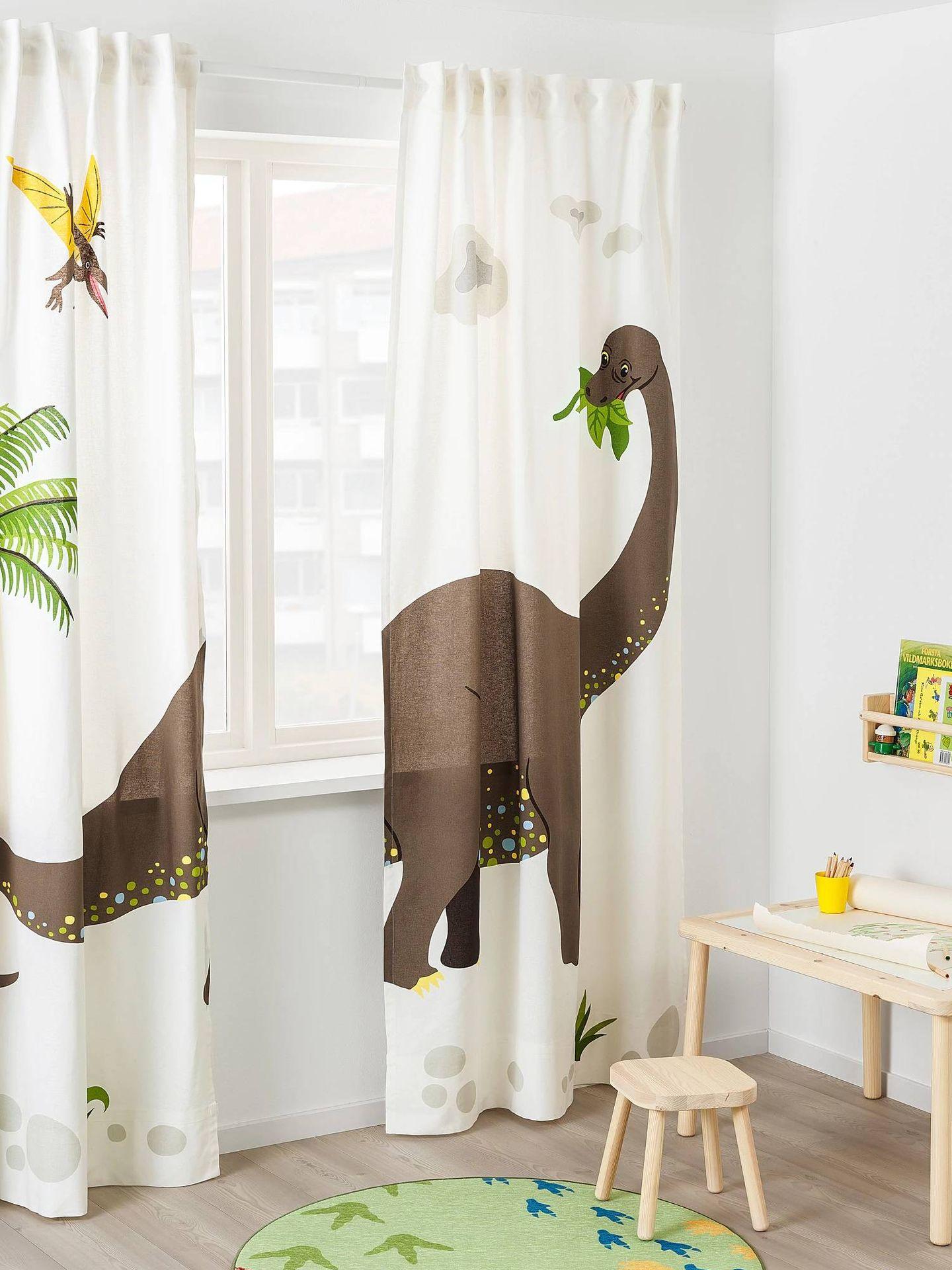 Cortinas infantiles de Ikea perfectas para el cuarto de los niños. (Cortesía)