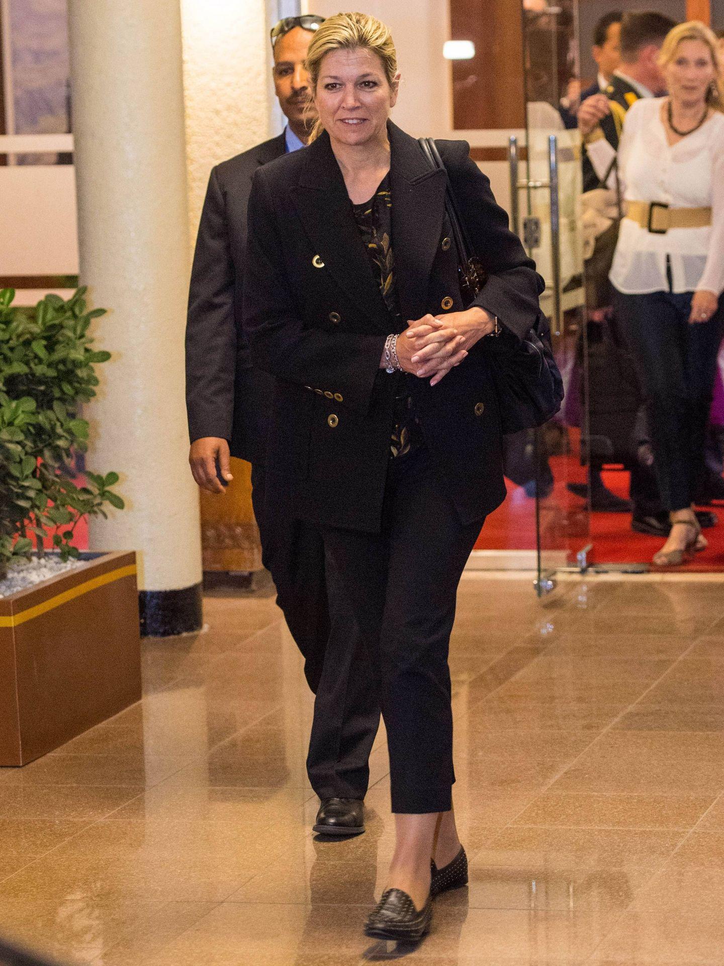 La reina Máxima a su llegada a Etiopía. (Cordon Press)