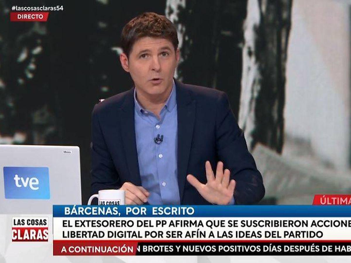 Foto: El presentador Jesús Cintora. (RTVE)