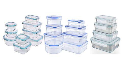 Los tuppers de cristal o plástico ideales para conservar y llevar la comida
