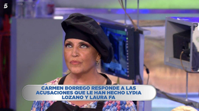 Lydia Lozano, en 'La última cena'. (Telecinco)
