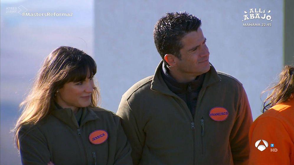 Foto: Iratxe y Paco, en 'Masters de la Reforma'. (Antena 3)