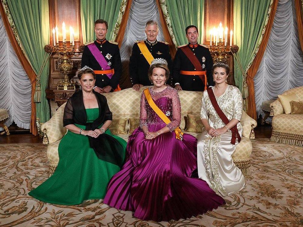 Foto: Los reyes de Bélgica, junto a los grandes duques y sus herederos. (Corte del Gran Ducado)