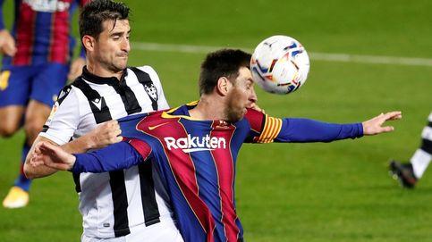 Messi rescata al Barça de un nuevo drama ante el Levante (1-0)