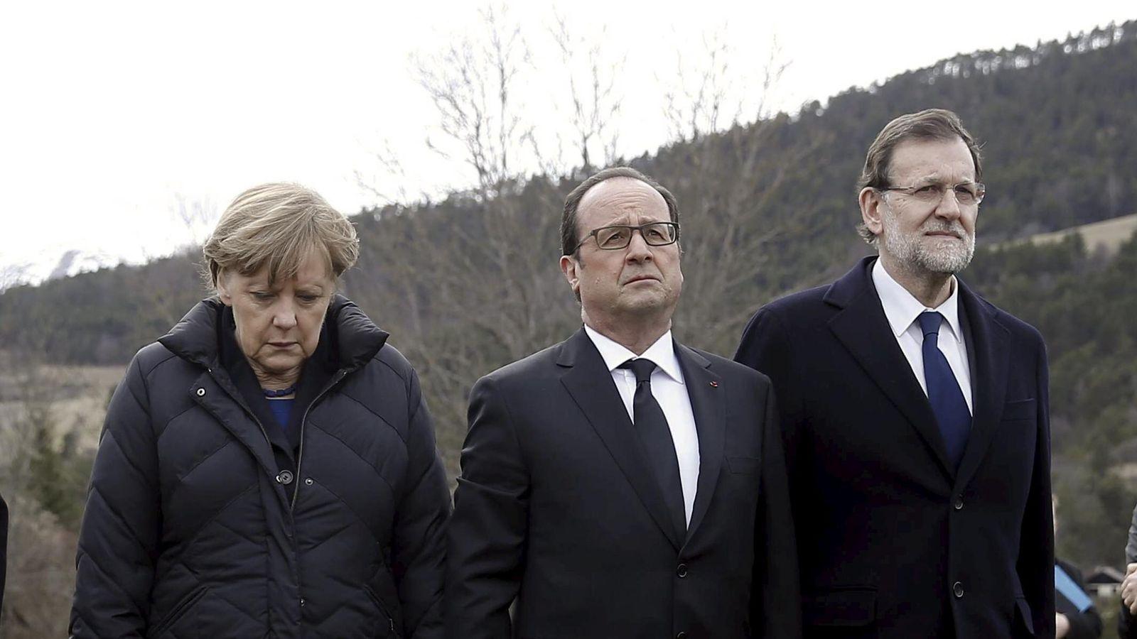 Foto: Angela Merkel, François Hollande y Mariano Rajoy juntos en la localidad de Seyne-les-Alpes (Reuters)