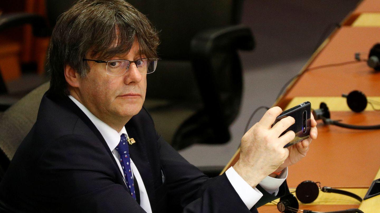 Puigdemont durante una sesión en el Parlamento Europeo. (Reuters)