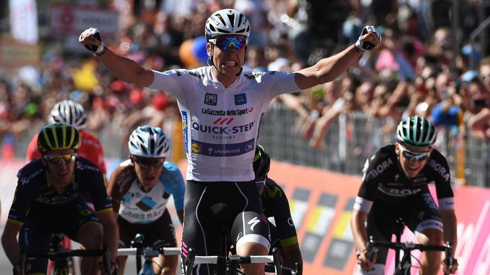 Jungels gana al sprint y Nairo Quintana araña seis segundos a Dumoulin