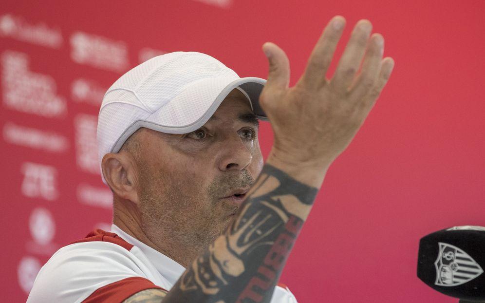 Foto: Jorge Sampaoli, durante una rueda de prensa. (EFE)
