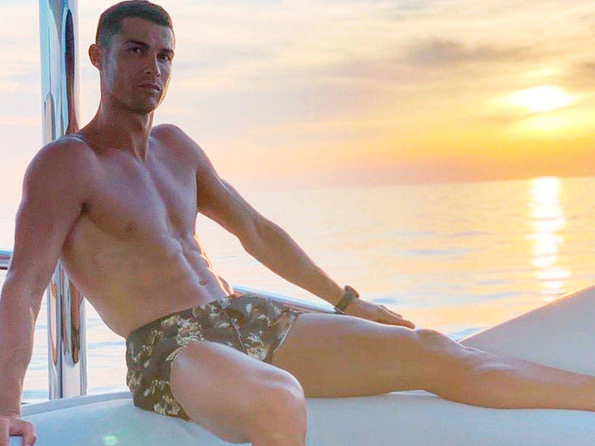 Foto: Las vacaciones de Cristiano en alta mar. (Instagram @cristiano)