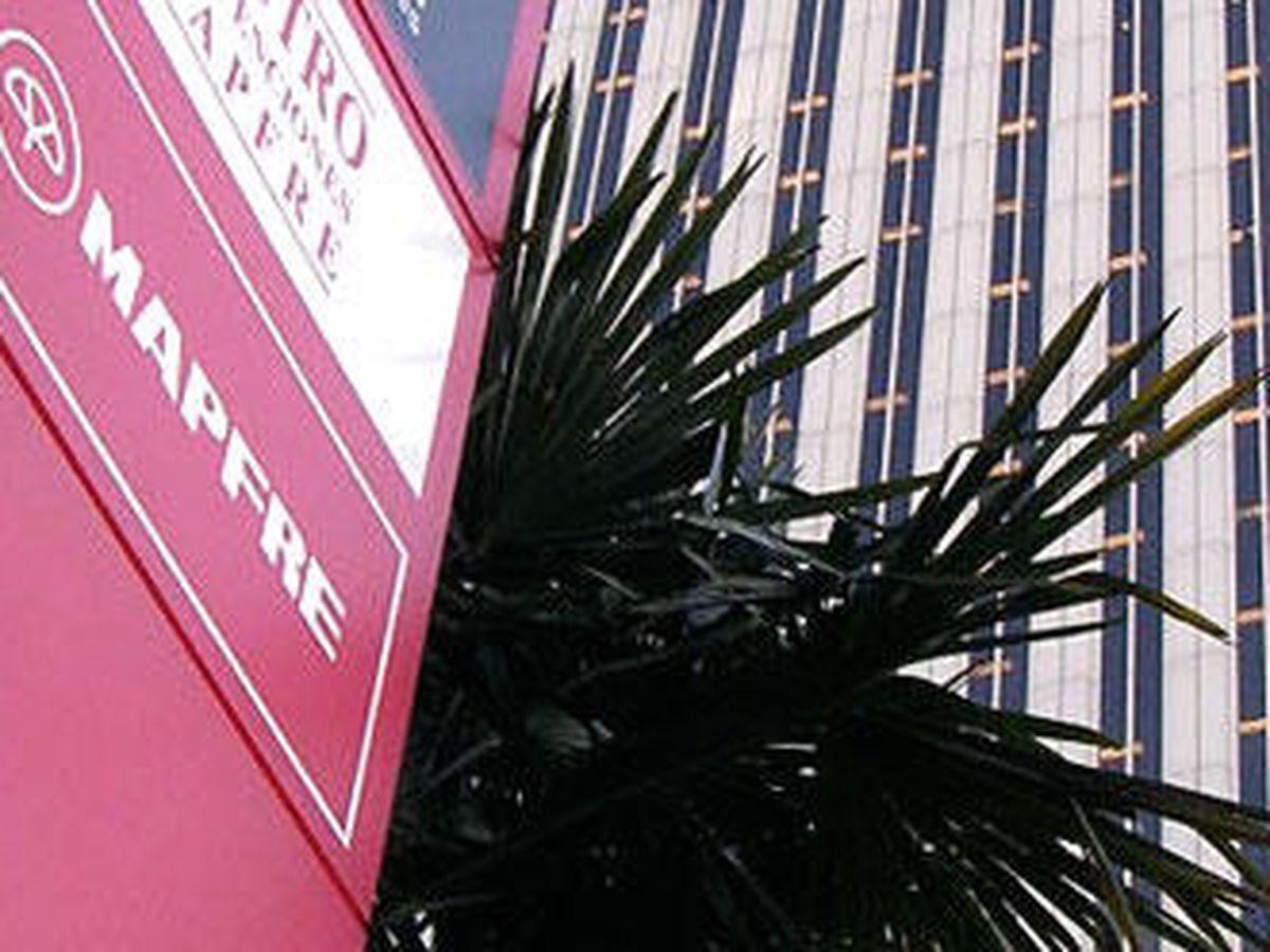 Foto: Logo del edificio de Mapfre a las faldas de Torre Picasso.