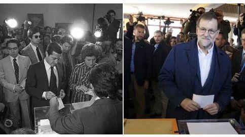 Un tuit de Interior asociando la imagen de Suárez con la de Rajoy levanta la polémica