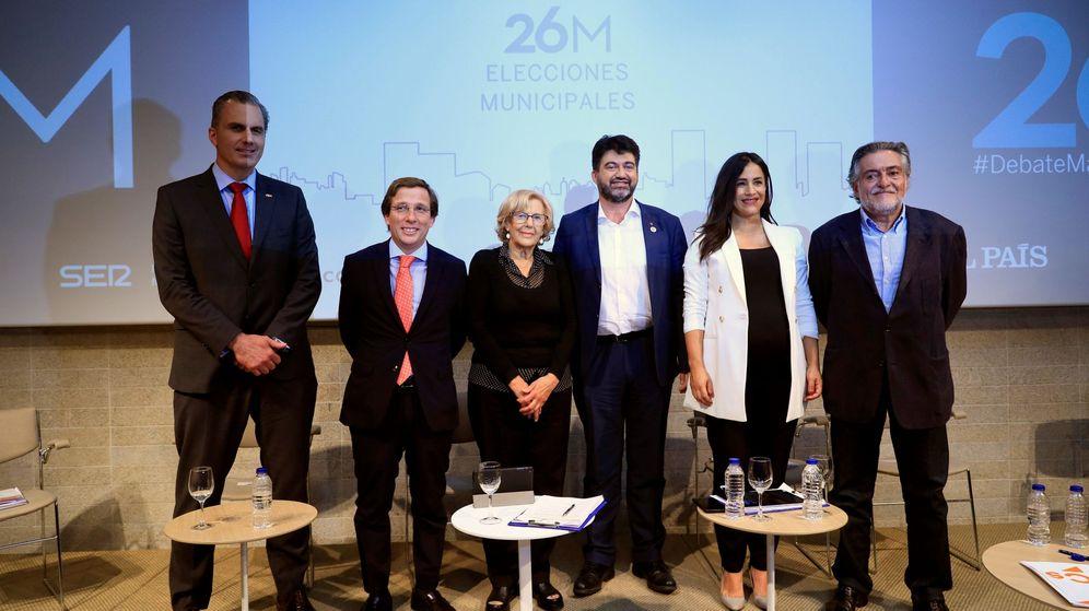 Foto: Los seis candidatos a la alcaldía de Madrid que compiten en las municipales de este domingo. (EFE)