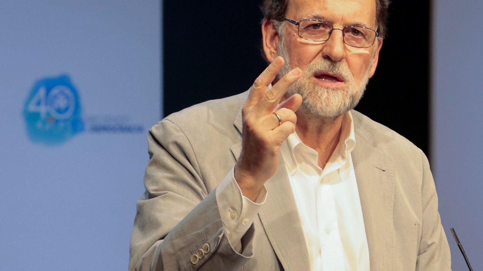 Foto: Mariano Rajoy, en un acto de partido en Palma de Mallorca. (Reuters)