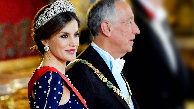 La reina Letizia almuerza hoy con Rebelo de Sousa, su 'presi' favorito