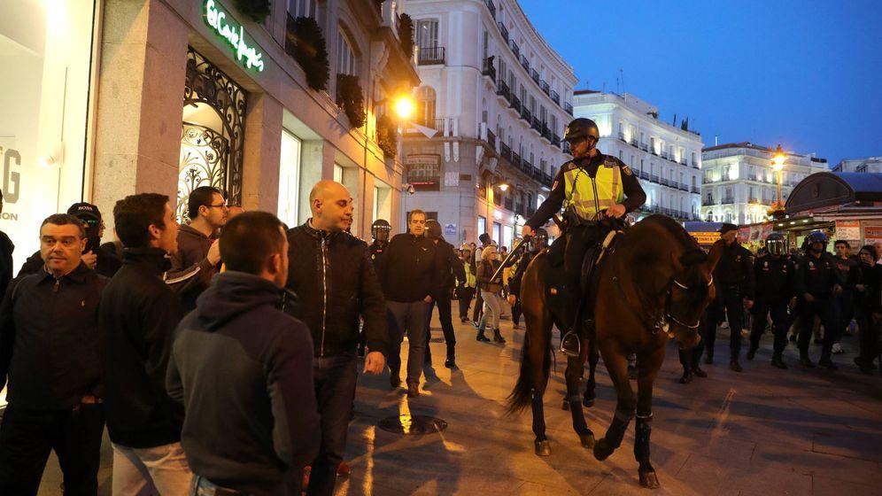 Foto: Concentración en Madrid en protesta contra la sentencia del procés. (EFE)