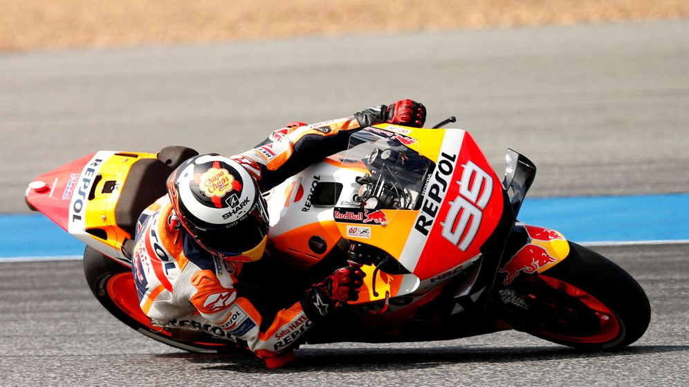 Foto: Jorge Lorenzo con su Honda en Buriram. (Reuters)