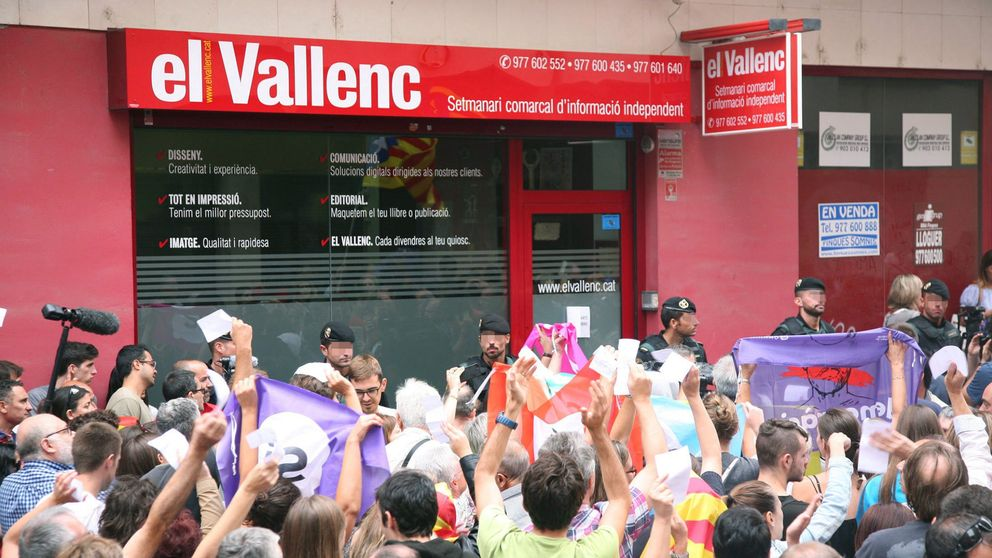 La Guardia Civil se presenta en un polígono de Barcelona con imprentas