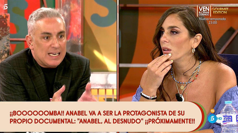 Kiko Hernández y Anabel Pantoja, en 'Sálvame'. (Telecinco)
