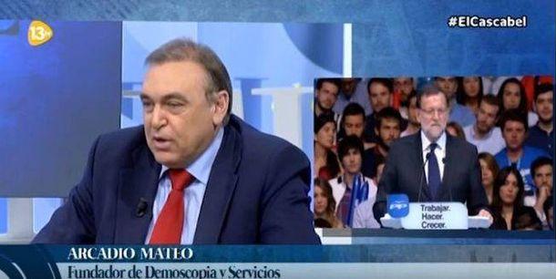 Foto: Arcadio Mateo, en un debate en 13TV en la campaña del 20-D.