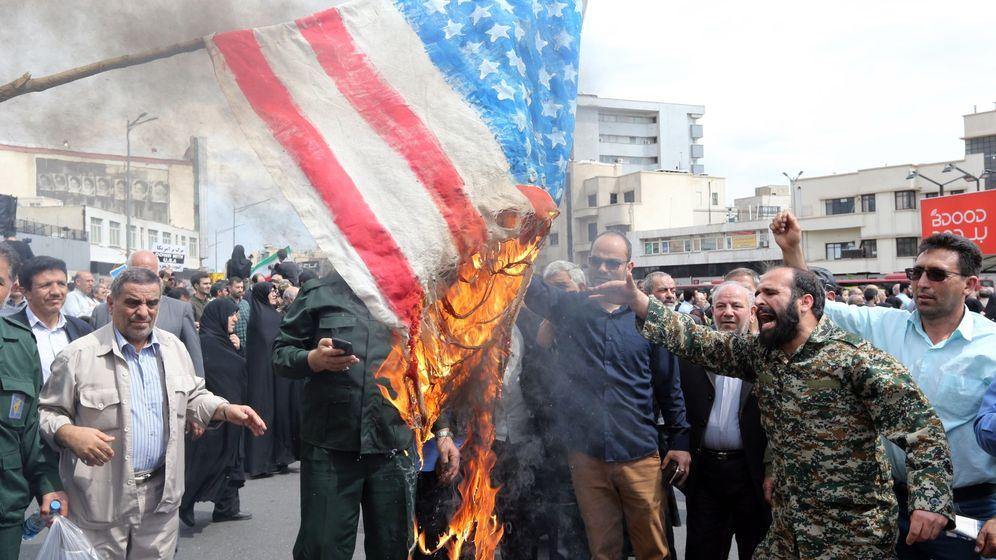 Foto: Protestas en Irán en abril de 2019. (EFE)