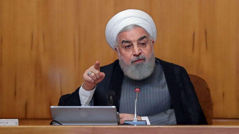 Foto: El presidente de Irán, Hasan Rohaní, en un discurso en Teherán. (EFE)