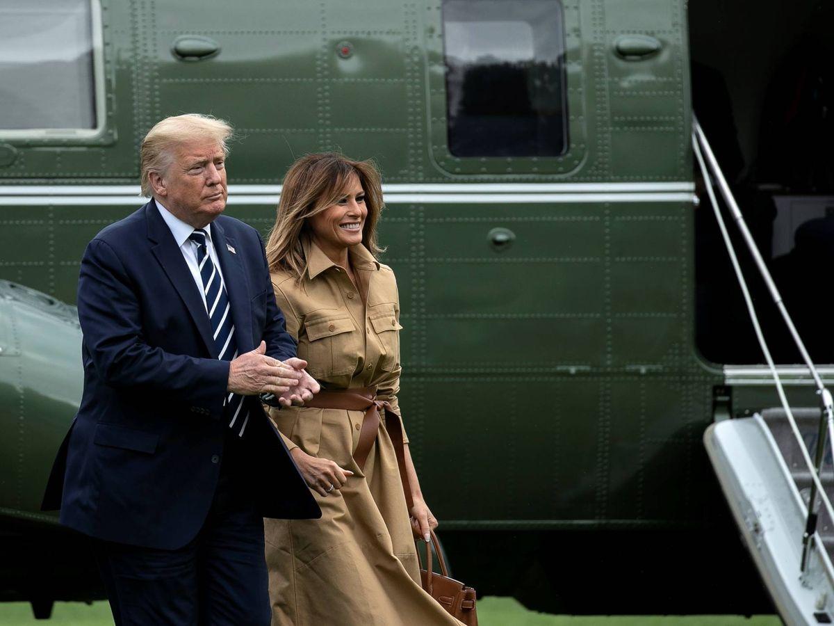Foto:  Donald y Melania Trump, a su regreso de NY. (EFE)