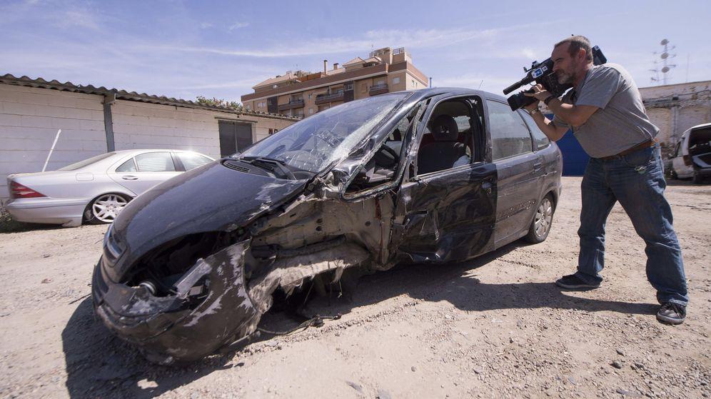 Foto: Coche del kamikaze de Córdoba después de circular 17 km en sentido contrario. (EFE)
