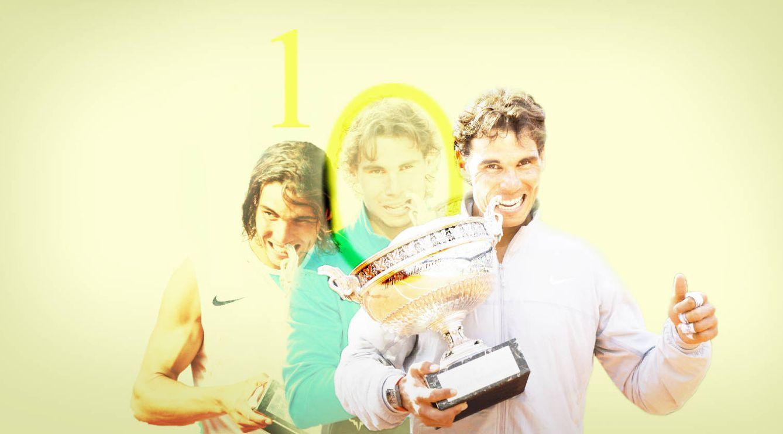 Foto: Rafa Nadal conquista su décimo Roland Garros. (Enrique  Villarino)