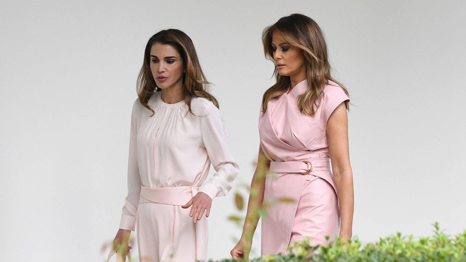 Foto: Rania de Jordania y Melania Trump. (Gtresonline)