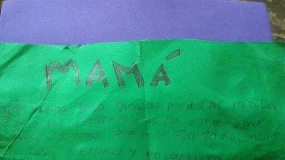 Foto: Carta del niño.