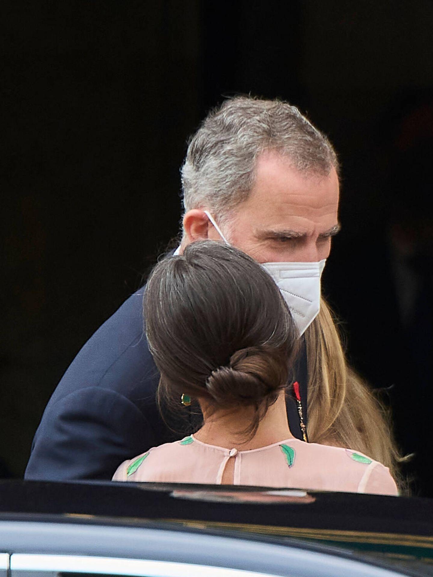 La despedida de Felipe y Letizia. (Limited Pictures)