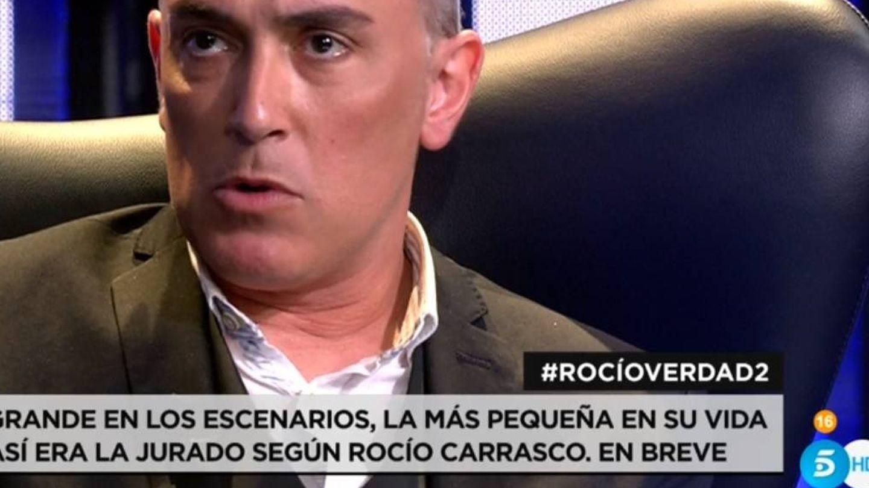 Kiko Hernández, en el programa de este domingo. (Telecinco).