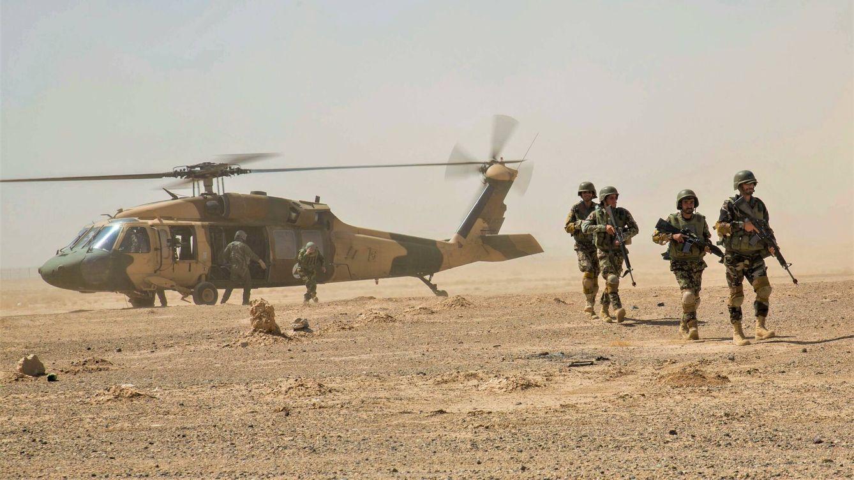 Foto: Black Hawk del Ejército Regular Afgano o ANA. (Reuters)