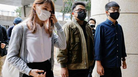 Wong y otros 2 activistas hongkoneses, a la espera de sentencia por asamblea no autorizada