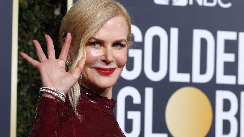 La actriz y su pillow face en la pasada edición de los Globos de Oro. (Reuters)